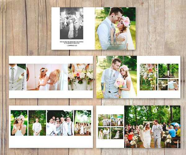 Stylish Wedding Album Photobook Template