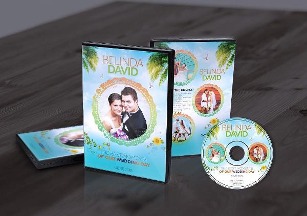 Stylish Wedding DVD Cover & CD Label