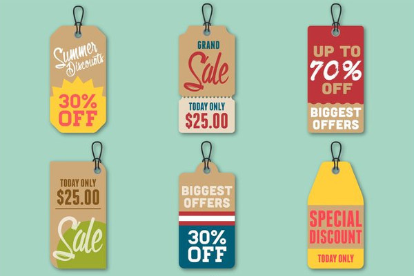 Free Summer Discount Price Tags