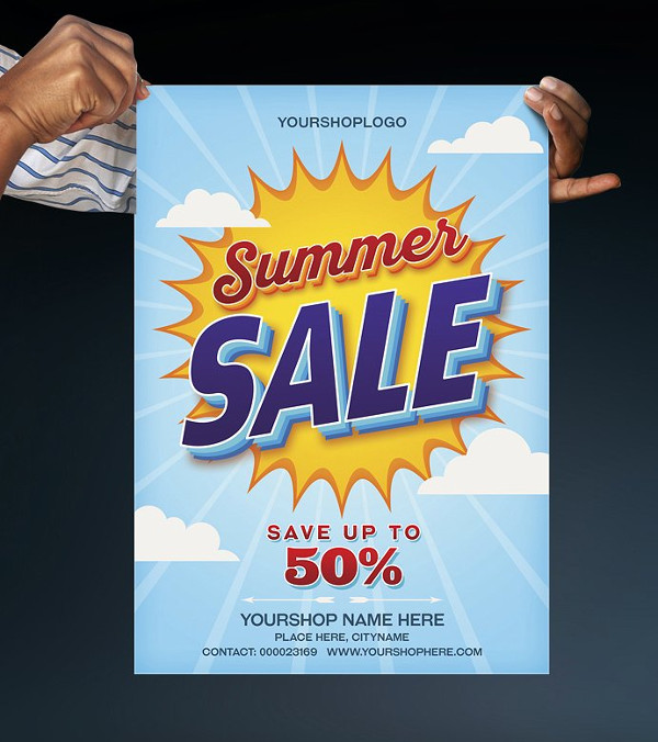 Perfect Summer Sale Poster Template