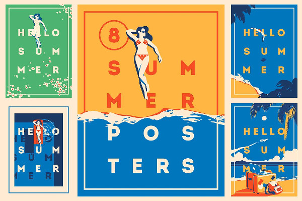 Summer Time Posters & Badge