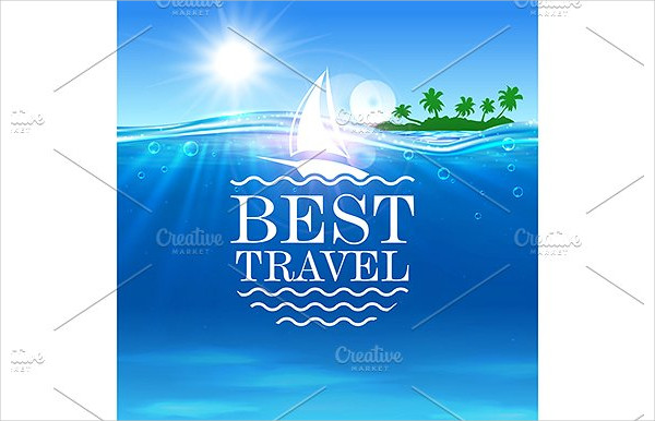 Summer Travel Vector Poster Template