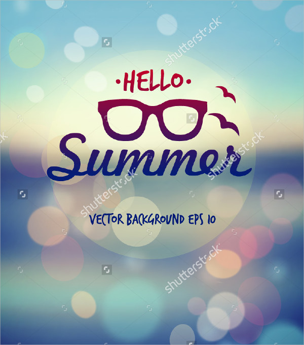 Clean Summer Poster Vector Background