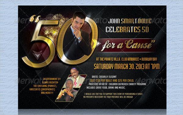 Surprise 50th Birthday Invites