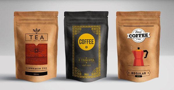 Trendy Vector Packaging Designs of Tea