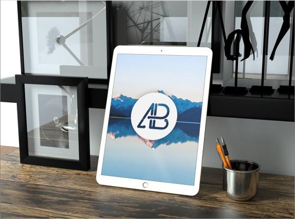 Clean Tablet Mockup Free PSD
