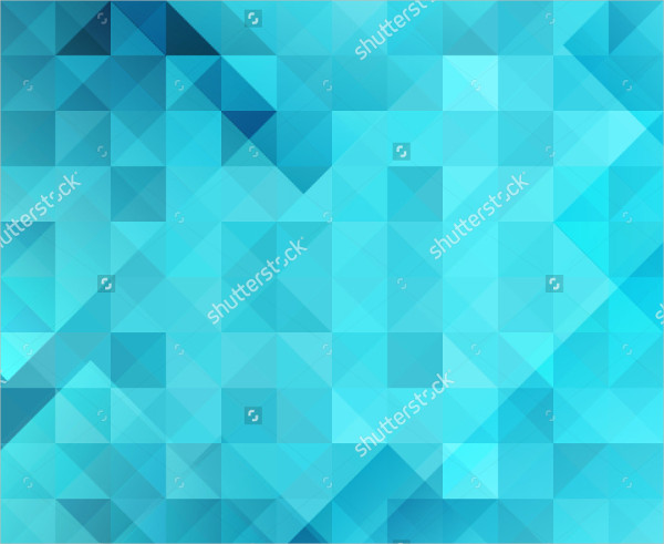 Blue Bright Triangles Background