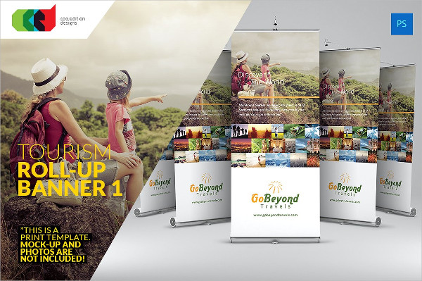 Tourism Roll-Up Banner Templates