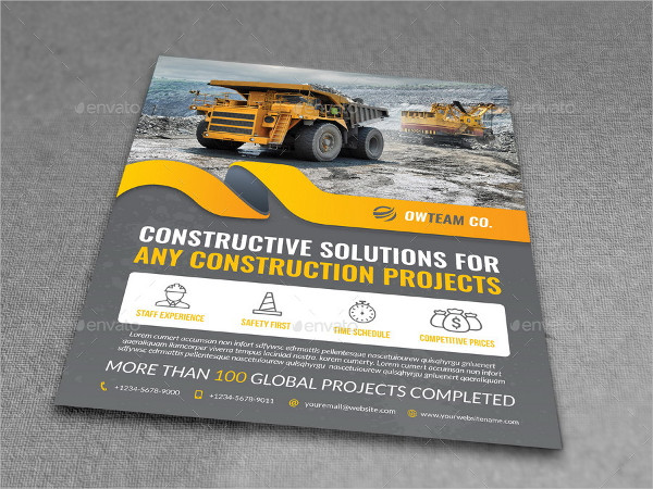 Construction Project Flyers Template