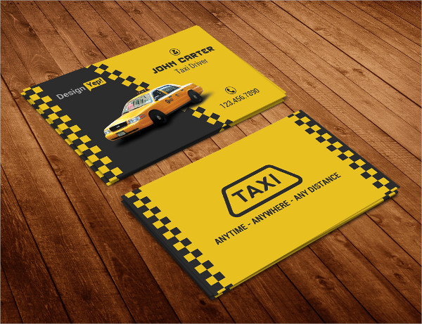 Free Taxi Cab Business Card Template