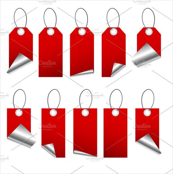 Vector Hanging Price Tags