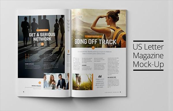US Letter Magazine Mock-Up