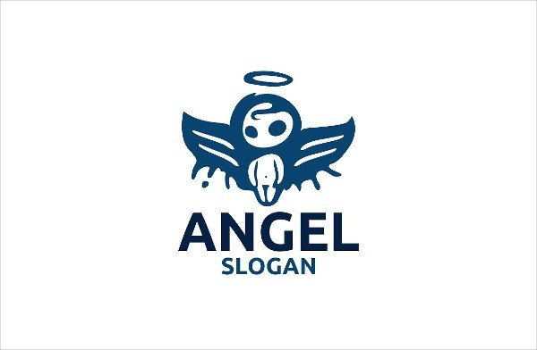 Unique  Angel Logo Template