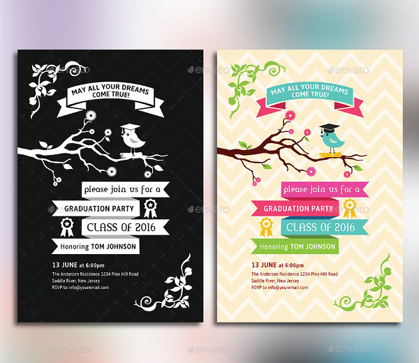 Unique Graduation Party Invitation Card