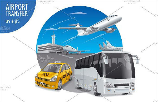 Vector Airport Art Illustrations