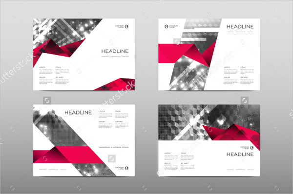 Horizontal Layout Brochure Design Vector