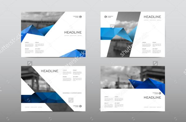 Cool Horizontal Brochures Vector
