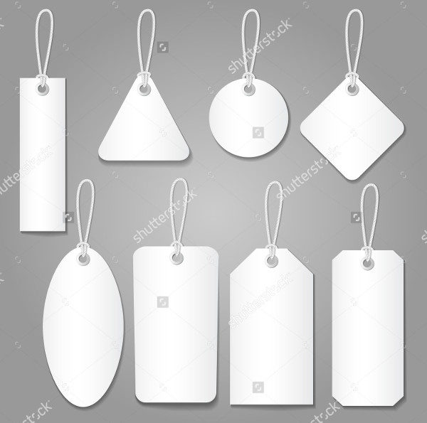 Blank Label Templates & Price Tags Set Vector