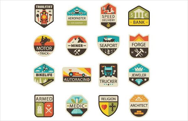Retro Transportation Badges & Logos