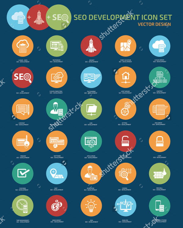Vector Social Media Collaboration Icons