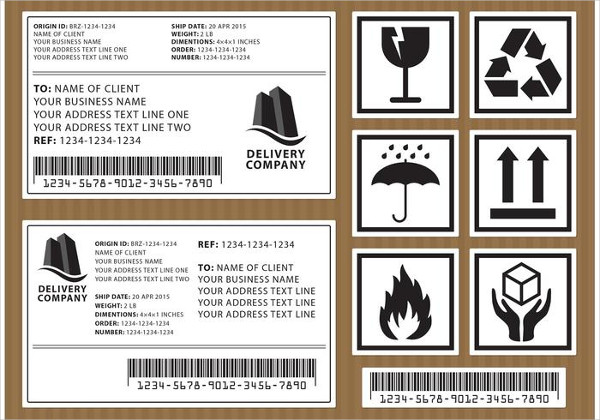 Vector Shipping Labels Free Download