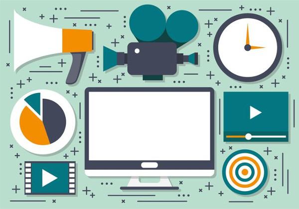 Video Marketing Vector Icons Free