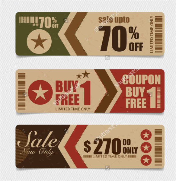 Vintage Style Coupon Template