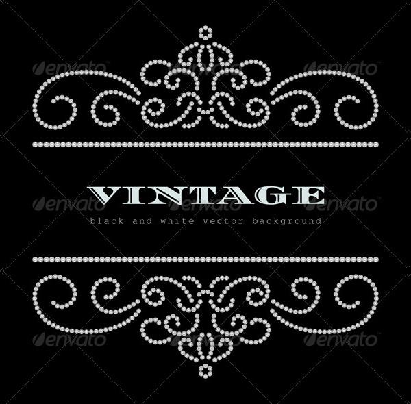 Vintage Diamond Frame Pattern