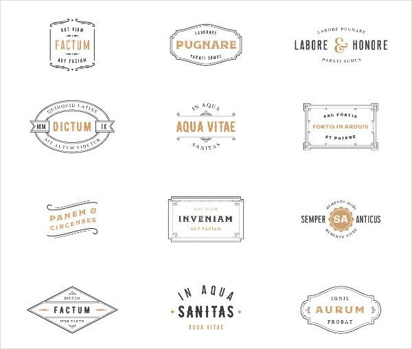 Vintage Label & Logo Templates