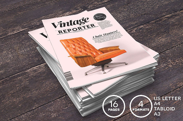 Vintage Newsletter or Magazine Template