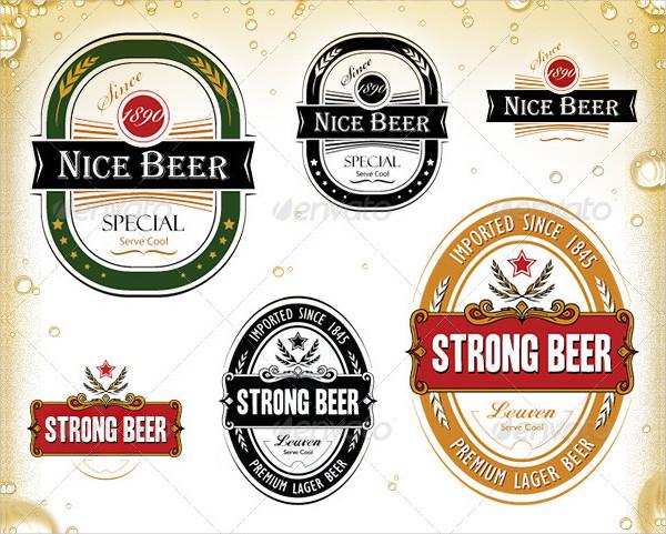 Vintage Set of Beer Label Templates