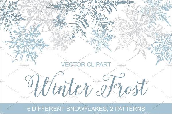 Vintage Snowflakes Vector Pattern