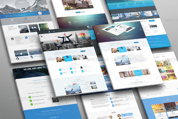 Popular Website Display Mockups Bundle