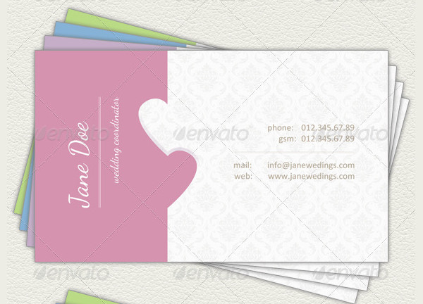 Wedding Coordinator Business Card Template