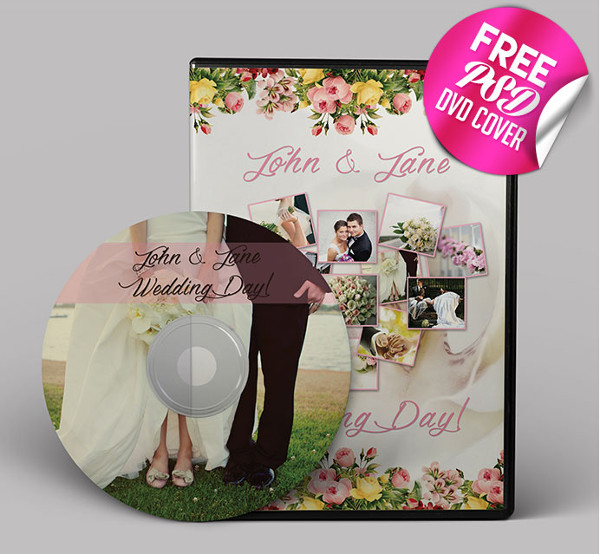 Free Wedding DVD/CD Cover Template