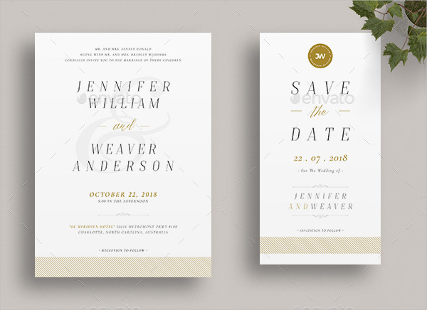 Wedding Menu Card & Invitation Template
