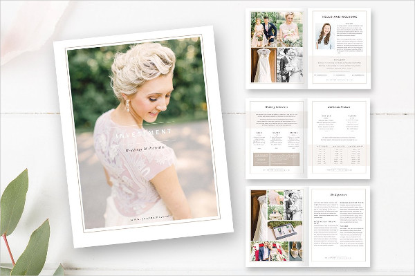 Perfect Wedding Photographer Magazine Template