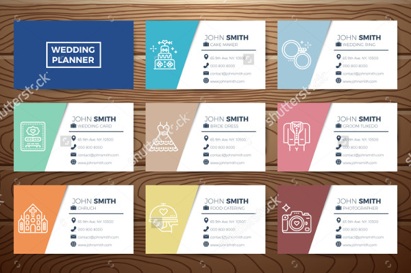 Wedding Planner Business Cards Collection