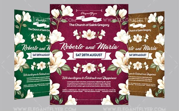 Wedding Reception Flyer Template