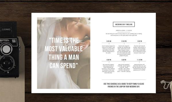 Wedding Timeline Magazine Template