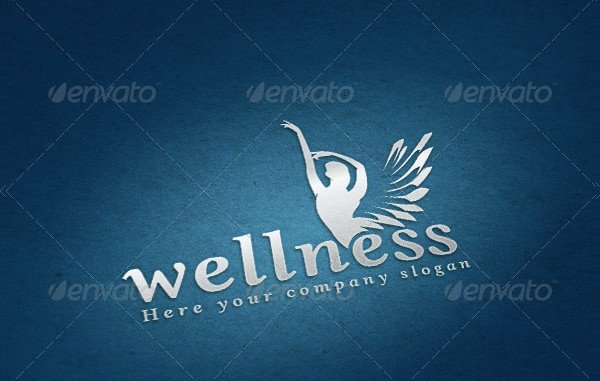 Wellness Angel Logo Template