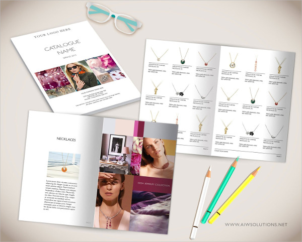 Wholesale Catalog Template for Jewelry Products