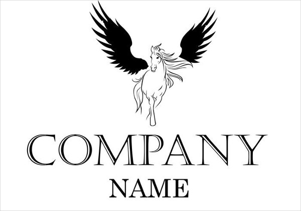 Winged Horse Logo Template Vector