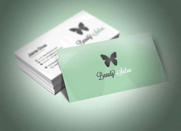 Elegant Beauty Parlour Business Card Template