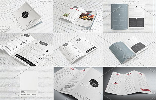 Bifold Menu 8 Different Design Pages