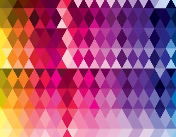 Colorful Triangles Pattern Free