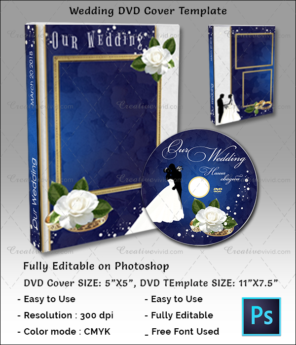Latest Wedding DVD Cover Template
