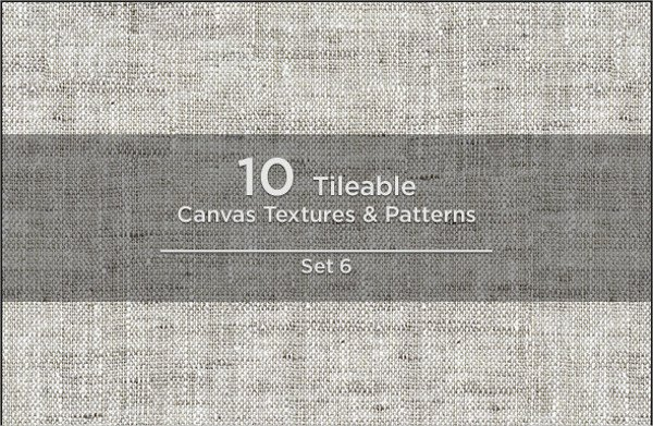 10 Tileable Canvas Textures & Patterns Pack