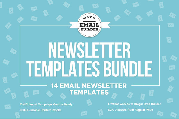 14 Email Newsletter Templates Bundle