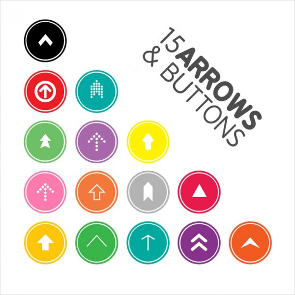 15 Arrows & Buttons Free Download